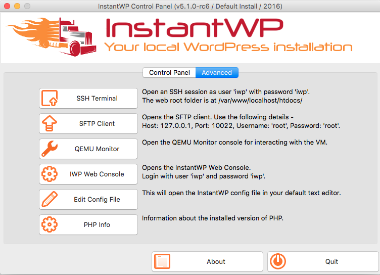 Screenshots - InstantWP